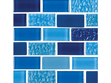 National Pool Tile Essence 1x2 Glass Tile Imperial Blue