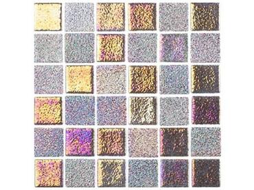 National Pool Tile Opal Glass 1x1 Tile Bronze Alloy