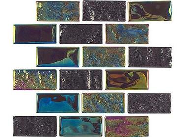 National Pool Tile Equinox 1x2 Glass Tile Multicolor
