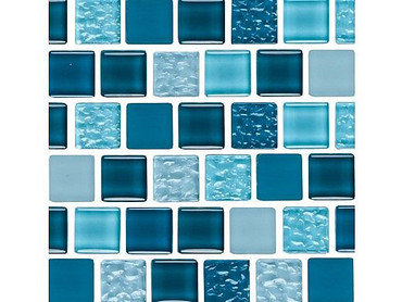 National Pool Tile Essence 1x1 Glass Tile Imperial Blue