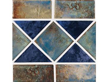 National Pool Tile Martinique Series Ocean Blue