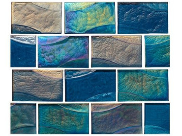 National Pool Tile Sea Ice Series 2x3 Glass Tile Lagoon