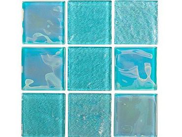 National Pool Tile Equinox 2x2 Glass Tile Icy Teal