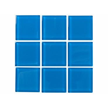 National Pool Tile Solid Med Blue 2x2