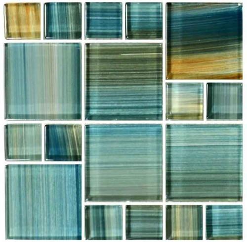 Pool Tile Aqua Mixed