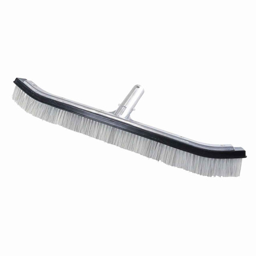 DG Pool Products 18 Heavy Duty Nylon and Wire Hybrid Swimming Pool Algae Brush - Extra-Wide