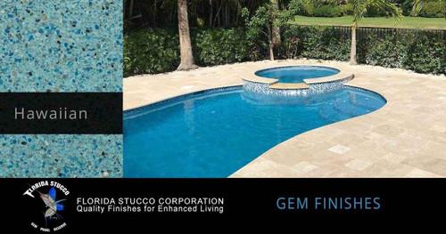 Florida Stucco Pool Plaster Finish Hawaiian Blue Gem Finish