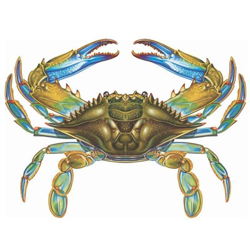Mosaic Blue Crab Porcelain Mosaic