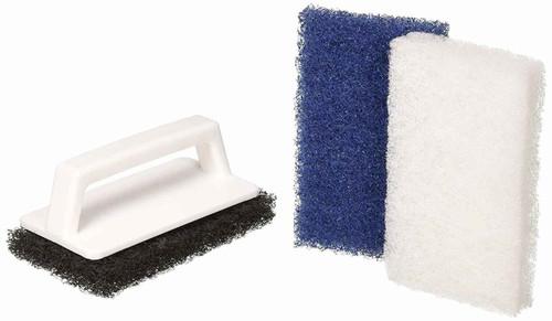 Pentair Pentair R111556 650 Multi-Purpose Scrub Brush with 3 Interchangeable Pad