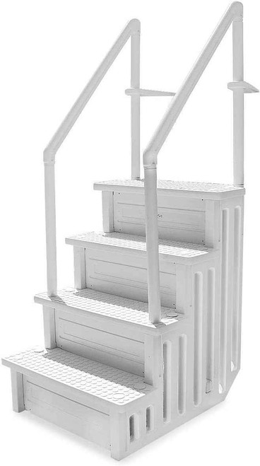 DG Pool Products Step Above Ground Swimming Pool Ladder /W Handle Slip Prevent 32 Inch