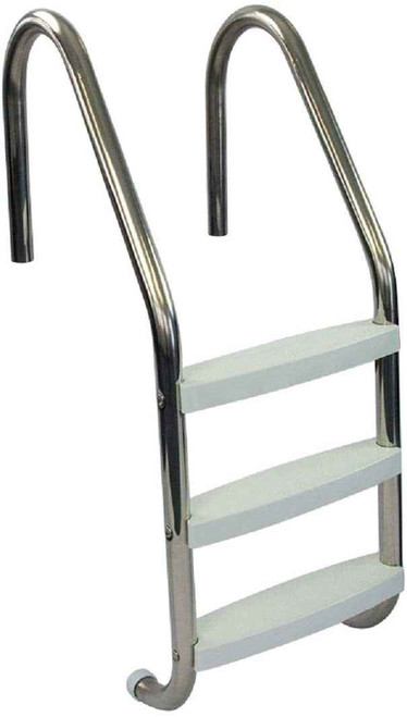DG Pool Products Pool Ladder Stainless Steel or Entry and Exit System for In-Ground Swimming Pools or 250 Pound Capacity or 1.90-Inch Outer Diameter