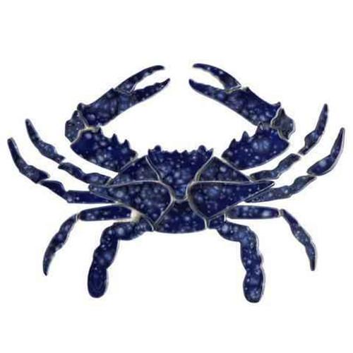 Mosaic Blue Crab BC34-12 Ceramic Mosaic