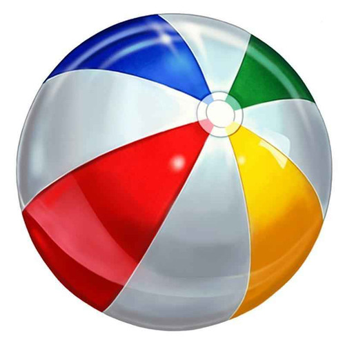 Mosaic Beach Ball Porcelain Mosaic