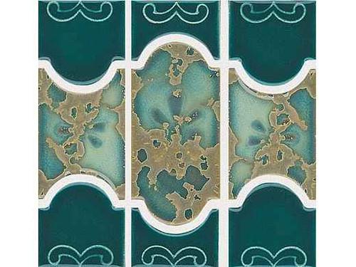 National Pool Tile Botanical Series Pool Tile Teal Green