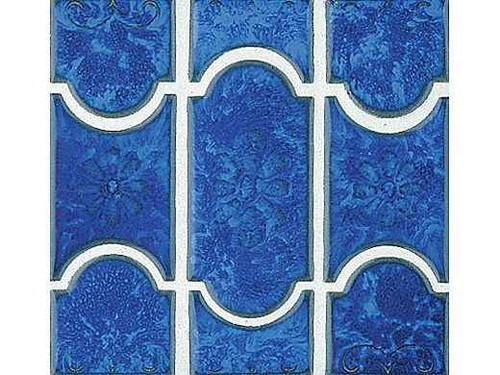 National Pool Tile Botanical Series Pool Tile Lake Blue