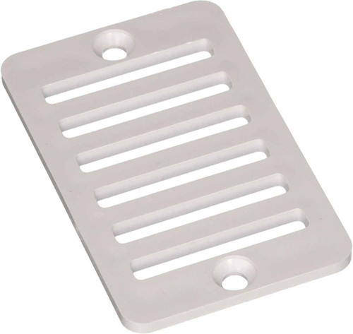DG Pool Products White Gutter Drain Grate W/ Screws
