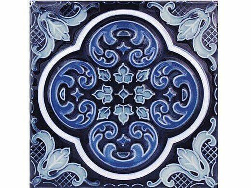 National Pool Tile National Pool Tile Casablanca 6x6 Deco Series Cobalt Ocean