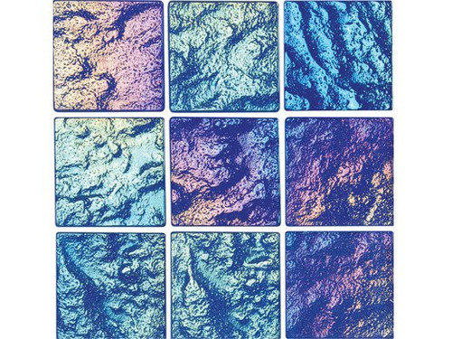 National Pool Tile Lightwaves Glass Tile Blue 2x2 LWV-BLUE2X2