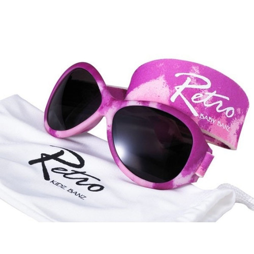 Retro Banz Pink Diva Glossy Camo by Baby Banz Sunglasses Ages (0-2)