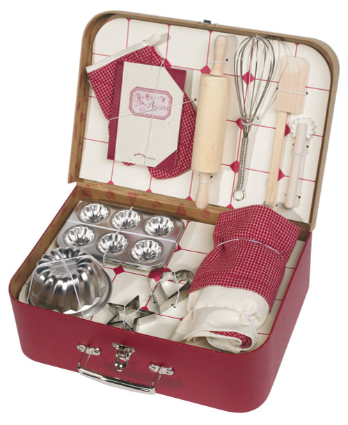 Moulin Roty Toy Baking Set, Patisserie Set in a Case