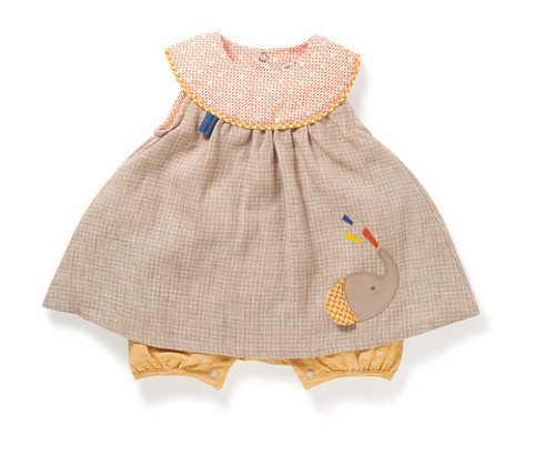 Moulin Roty Ovida linen all-in-one