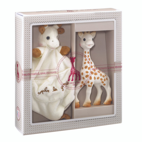 Sophie the Giraffe NEW  Sophiesticated Birth Set mediumthe set + a bag + a gift card
