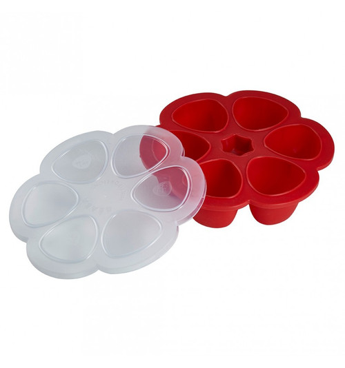 Beaba Multiportionsª 5 oz Silicone Tray - Cherry