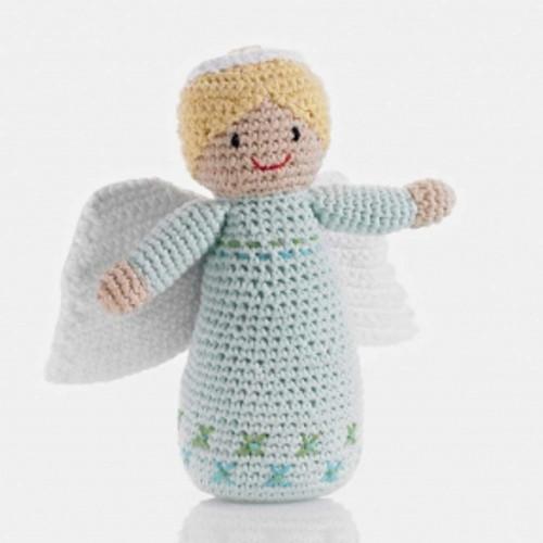 Pebble Angel Baby Rattle