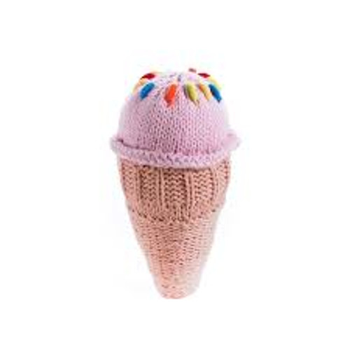 Pebble Strawberry Cone rattle