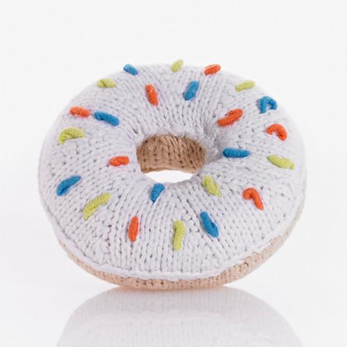 Pebble White Donut Rattle