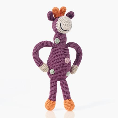Pebble Organic Giraffe soft Purple