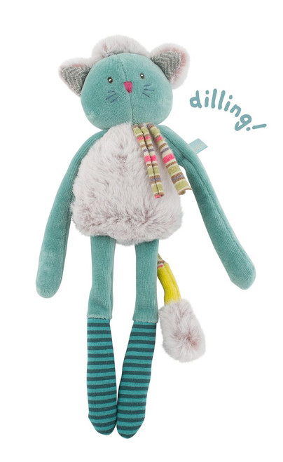 Moulin Roty Blue Cat Rattle Les Pachats