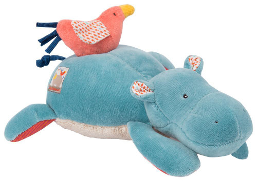 Moulin Roty Musical doll hippopotamus Les Papoum
