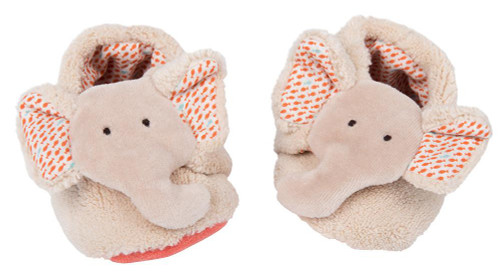 Moulin Roty Elephant slippers Les Papoum