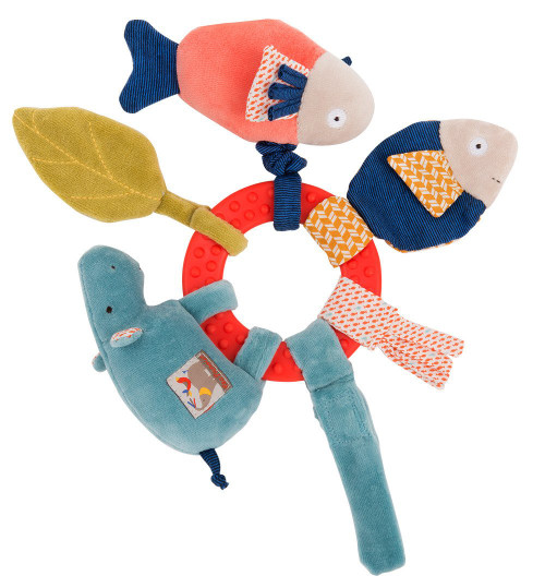 Moulin Roty Red Ring rattle Les Papoum