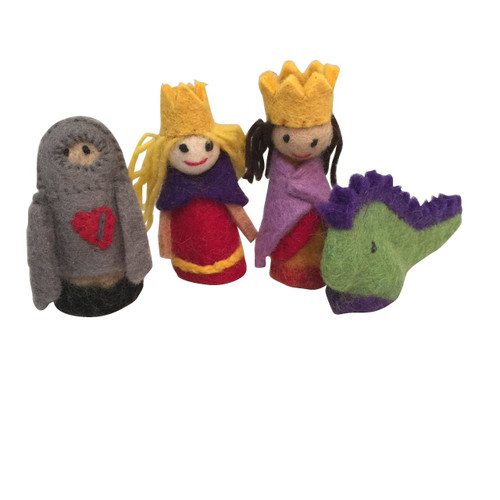 Papoose Finger Puppets King & Queen Boxed Set