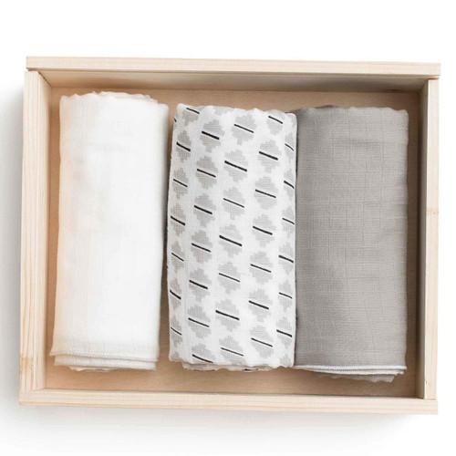 Zestt Organic Cotton Muslin Sadie Swaddle Gift Set