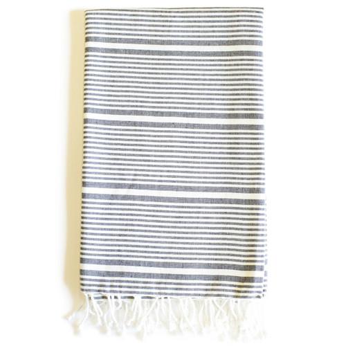 Zestt  Anjuna Organic Cotton Fouta Bath Towel - Charcoal