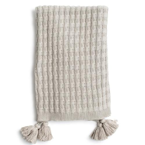 Zestt Organic Cotton Abrams Knit Throw