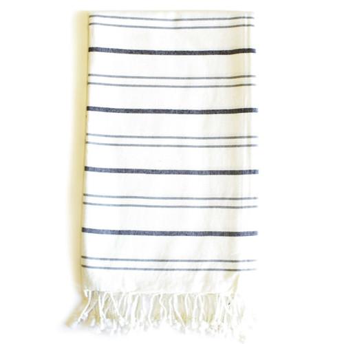 Zestt Margoa Organic Cotton Fouta Bath Towel - Charcoal