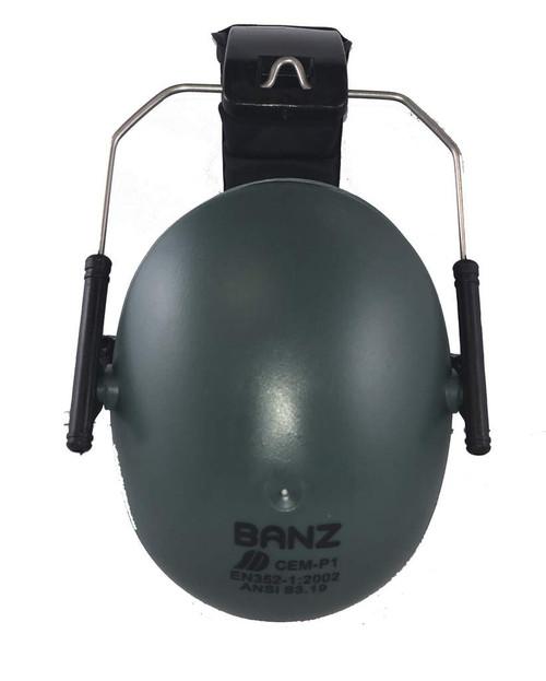Baby Banz Kids Hearing Protection Earmuffs Dark Green