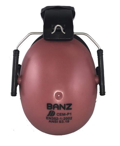 Baby Banz Kids Hearing Protection Earmuffs Maroon