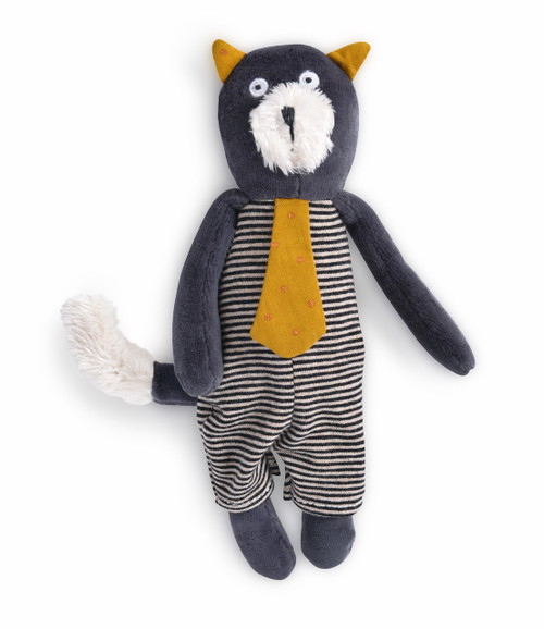 Moulin Roty Small Soft Toy Alphonse the grey cat Les Moustaches