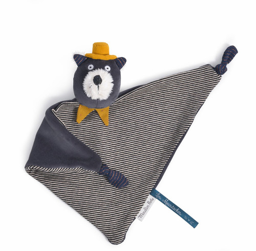Moulin Roty comforter Alphonse the cat Les Moustaches