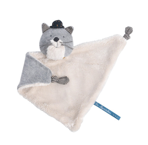 Moulin Roty comforter Fernand the cat Les Moustaches