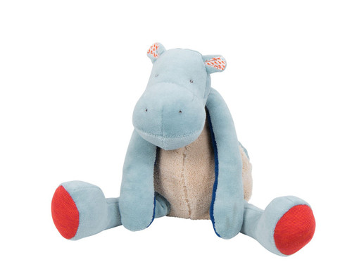 Hippopotamus doll soft toy Les Papoum Moulin Roty