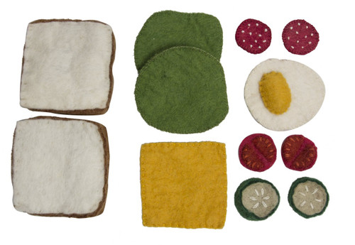 Papoose Felt Sandwich & Toppings Boxed Set