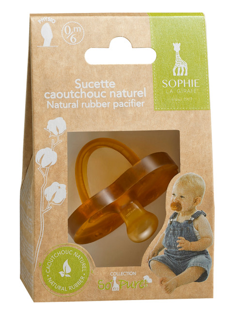 Sophie the Giraffe so Pure Natural Rubber Pacifier