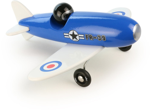 Vilac Blue Aerobatic Wooden Toy Plane