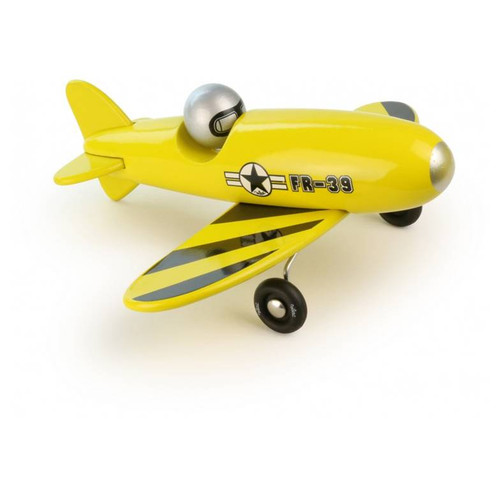 Vilac Yellow Wooden Aerobatic  Plane